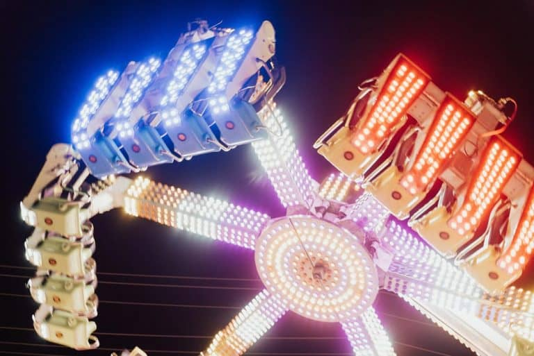 One of the carnival rides at Sights & Sounds of Christmas