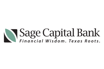 Sage Capital Bank logo: Financial Wisdom, Texas Roots